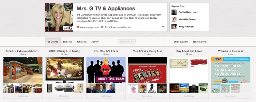 Mrs G TV & Appliances on Pinterest