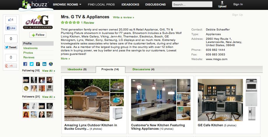 Mrs G TV & Appliances on Houzz.com