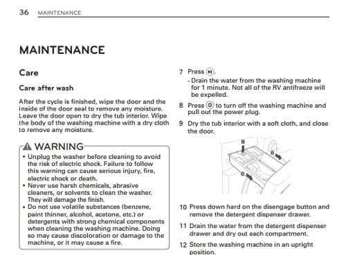 bad smell from washing machine front load