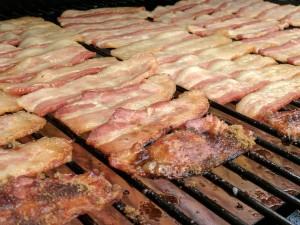 bacon on grill