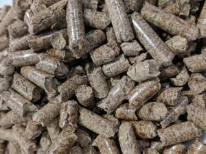 wood pellets close-up