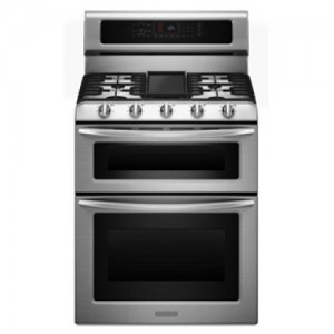Kitchen Aid Dual Fuel Double Oven Range KDRS505XSS