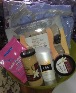 Pamper Yourself Prize Basket: This is just one of the prizes you could win at our event!