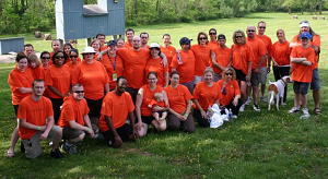 Walk MS team Pathfinders. Salesman Keith Foerst, Manager Chris Gray, and part-time Internet Specialist Kimberly Foerst are part of this team.