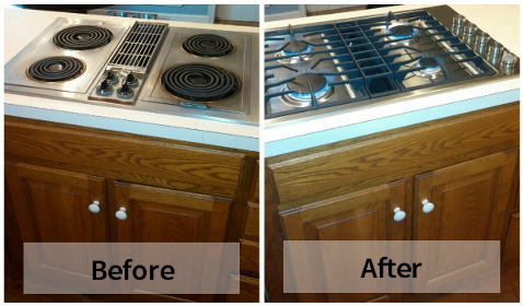 Replacing A Downdraft Range Or Center Downdraft Cooktop