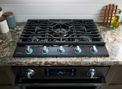 Samsung 30 5 Burner Cooktop Na30k7750tg S New Gas Comes Either Stainless Na30k7750ts