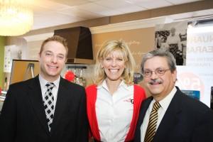 Seth Hamill, Miele Territory Sales Manager, Debbie Schaeffer , Al Carneval, Miele Regional Sales Manager