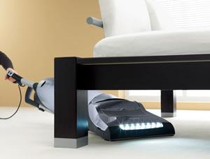 Miele Upright Vacuum Under Table