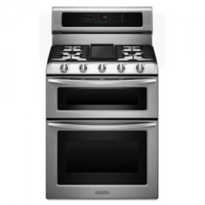 Kitchen Aid Dual Fuel Double Oven Range KDRS505XSS